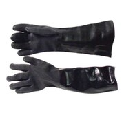 """Protective Industrial Products 18"""" PVC Dipped Gloves, Black, 1 Pair (58-8060)"""