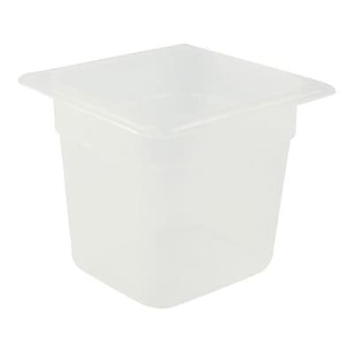 """""Cambro 1/6 Size 6"""""""" Deep Food Pan, 5 2/3"""""""" H x 6 1/3"""""""" W x 6 7/8"""""""" D, Clear (66PP190)"""""" 2474553"