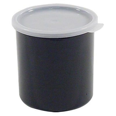 """""Cambro 2.7 Qt. Black Crock with Lid, 6 7/8"""""""" H x 6 3/4"""""""" W x 6 3/4"""""""" D, Black (CP27110)"""""" 2474575"