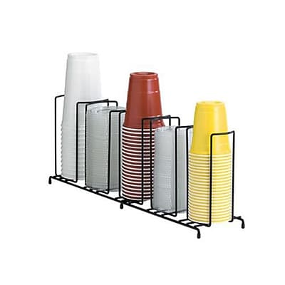Dispense-Rite 5-Section Wire Cup/Lid Dispenser, Black (WR-5) 2474611