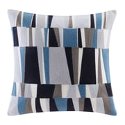 Ink + Ivy Lars Embroidered Throw Pillow; Blue