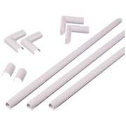 Wiremold® CordMate Plastic Cord Organizer Kit with 9' Wire Channel, White