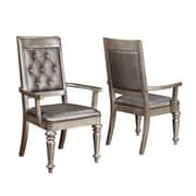 Infini Furnishings Victoria Arm Chair (Set of 2)