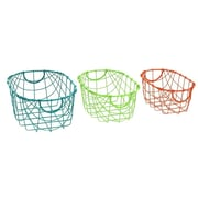 Cole & Grey 3 Piece Metal Traditional Basket Set