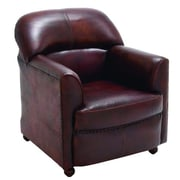 Cole & Grey Real Leather Arm Chair