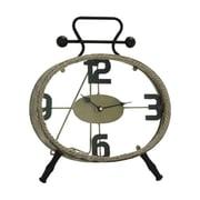 Cole & Grey Metal Rope Clock