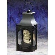 Brass Traditions 800 Series 1 Light Outdoor Wall Lantern; Painted Black