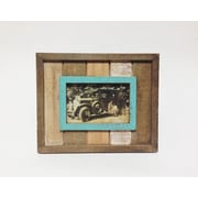 Wilco Home Picture It Barnboard Plank Tabletop Picture Frame; 4'' x 6''