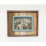 Wilco Home Picture It Barnboard Plank Tabletop Picture Frame; 5'' x 7''