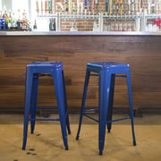 Buffalo Tools 30'' Bar Stool (Set of 2); Blue