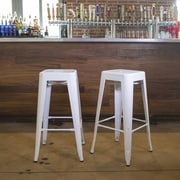 Buffalo Tools 30'' Bar Stool (Set of 2); White