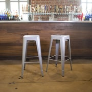 Buffalo Tools 30'' Bar Stool (Set of 2); Silver