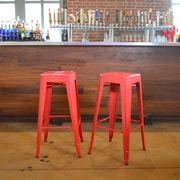 Buffalo Tools 30'' Bar Stool (Set of 2); Red