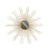 Urban Trends Metal Round Wall Mirror; Gold