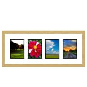 Frames By Mail 4 Opening Collage Picture Frame; Gold