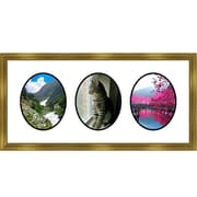 Frames By Mail 3 Oval Opening Collage Picture Frame; Gold