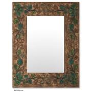 Novica Ivy Leather Mirror