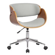 Porthos Home Lydia Mid-Back Desk Chair; Gray