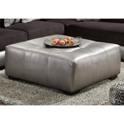 Chelsea Home Furniture Landon Cocktail Ottoman; Gray