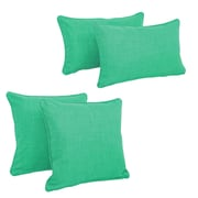 Blazing Needles Blazing Needles Soft Home Furnishings 4 Piece Outdoor Throw Pillows Set; Emerald