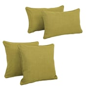 Blazing Needles Blazing Needles Soft Home Furnishings 4 Piece Outdoor Throw Pillows Set; Avocado