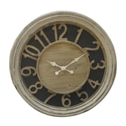 Woodland Imports Wooden Clock