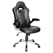 Just Cabinets Deluxe Gaming High-Back Executive Chair; Black / Gray