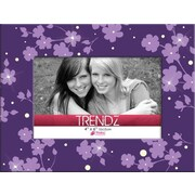 Timeless Frames Trendz Floral Glass Tabletop Photo Frame; Purple