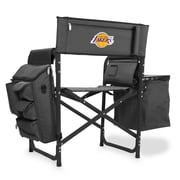Picnic Time Fusion Chair; Los Angeles Lakers/Grey-Black