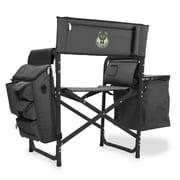 Picnic Time Fusion Chair; Milwaukee Bucks/Grey-Black