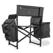 Picnic Time Fusion Chair; San Antonio Spurs/Grey-Black