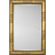 Mirror Image Home Mirror Style 81119 - Bullnose Gold Stripe And Mottle; 27.5 x 31.5