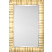 Mirror Image Home Mirror Style 81124 - Bullnose Ivory Stripe; 36.5 x 46.5
