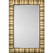 Mirror Image Home Mirror Style 81126 - Bullnose Ivory w/ Carmel Stripe; 36.5 x 46.5