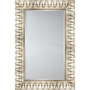 Mirror Image Home Mirror Style 81128 - Silver w/ ''V'' Detail; 29.25 x 33.25