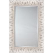 Mirror Image Home Mirror Style 81129 - Key West White w/ ''V'' Detail; 29.25 x 33.25