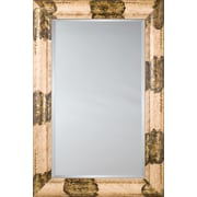 Mirror Image Home Mirror Style 81130 - Ivory Gold w/ Flat Leaf; 28.5 x 32.5