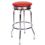Richardson Seating Retro Home 30'' Swivel Bar Stool; Red