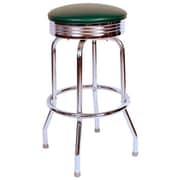 Richardson Seating Retro Home 24'' Swivel Bar Stool; Green