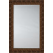 Mirror Image Home Mirror Style 81144 - Walnut Flat Face w/ Square Detail; 35.75 x 45.75