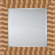 Mirror Image Home Mirror Style 81145 - Salmon Wood Stripe; 28.5 x 32.5