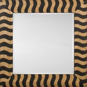 Mirror Image Home Mirror Style 81146 - Black Wood Stripe; 42.5 x 54.5