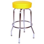 Richardson Seating Retro Home 30'' Swivel Bar Stool; Yellow