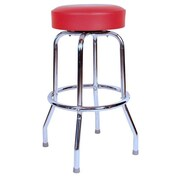 Richardson Seating Retro Home 24'' Swivel Bar Stool; Red