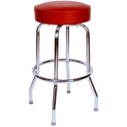 Richardson Seating Retro Home 24'' Swivel Bar Stool; Wine