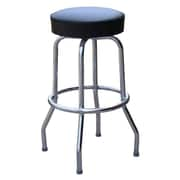 Richardson Seating Retro Home 24'' Swivel Bar Stool; Black