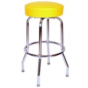 Richardson Seating Retro Home 24'' Swivel Bar Stool; Yellow