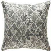 14 Karat Home Inc. Moroccan Throw Pillow; Stone/Pewter/Iron