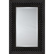 Mirror Image Home Mirror Style 81180 - Black Quilted Cushion; 32.75 x 44.75