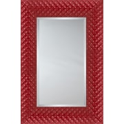 Mirror Image Home Mirror Style 81181 - Red Quilted Cushion; 38.75 x 48.75